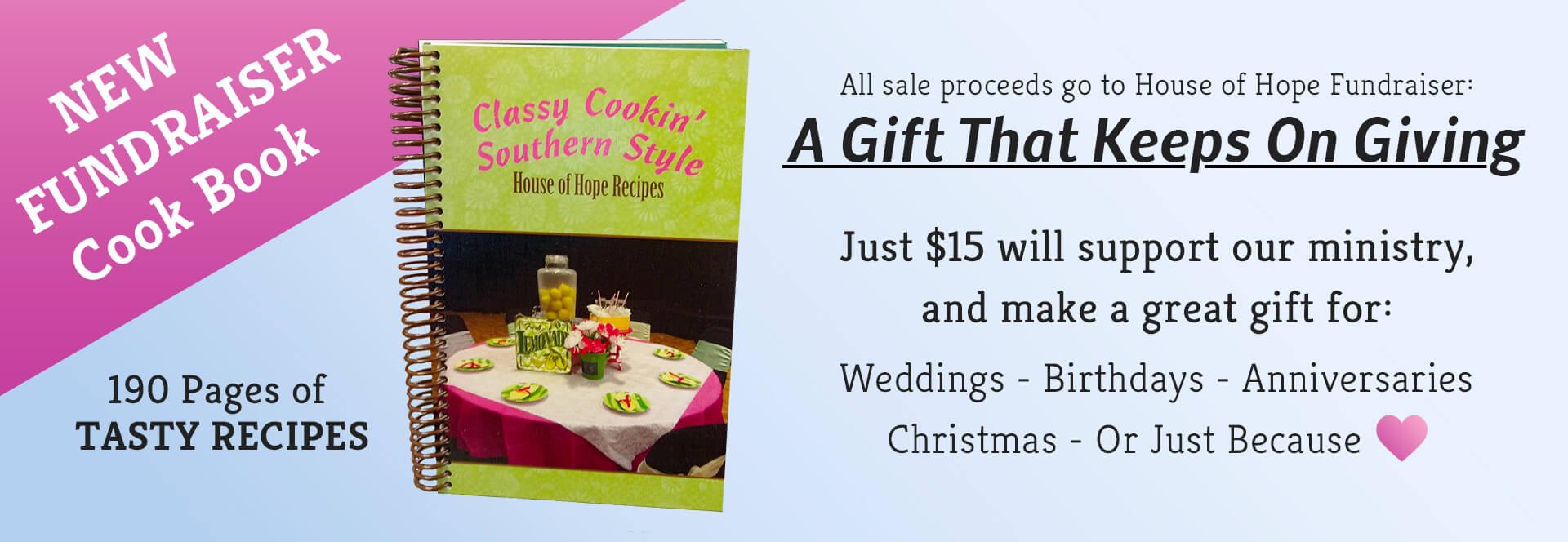 Cook Book Fundraiser Banner