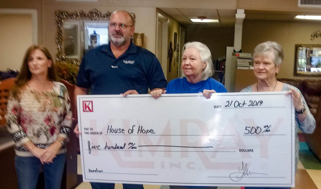 House Of Hope Donation
